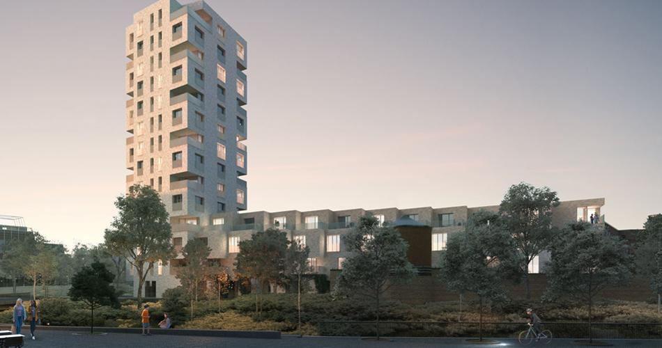 Nieuwe woontoren aan Hertogenpark in Leuven